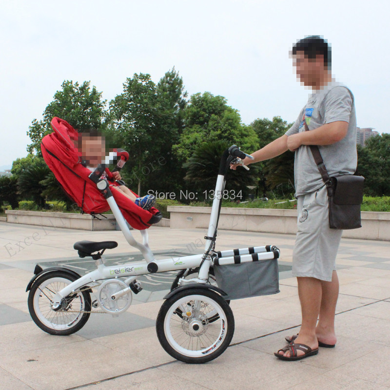 Upgrade More Widen & Comfortable Folding Bike 16inch Baby Strollers ...