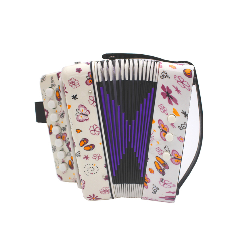 Kids Children 7 Key 2 Bass Musical Instrument Accordion Educational Musical Instrument Rhythm Band Toy