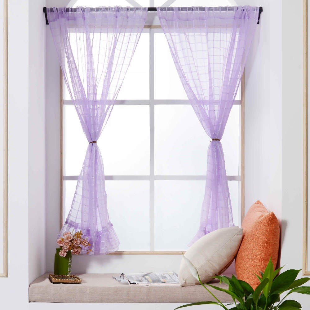 1 PCS Tulle Roman Curtains fresh style Curtain For Kitchen Living ...