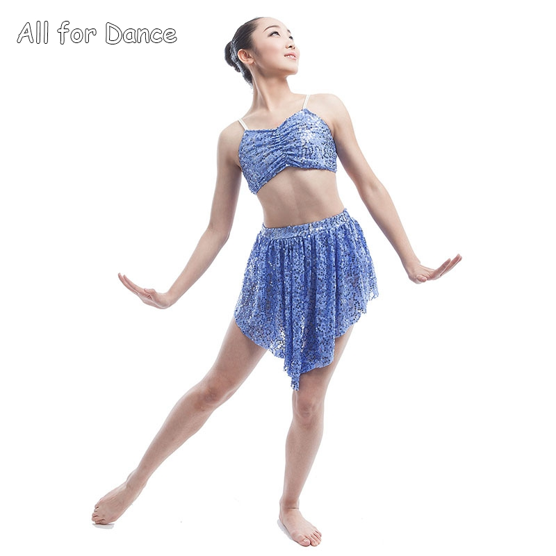 Dance Top/Skirt For Girls Show Dance Costume Women Ballerina Dance Costume Child & Adult Ballet/Contemporary/Lyrical Dress image