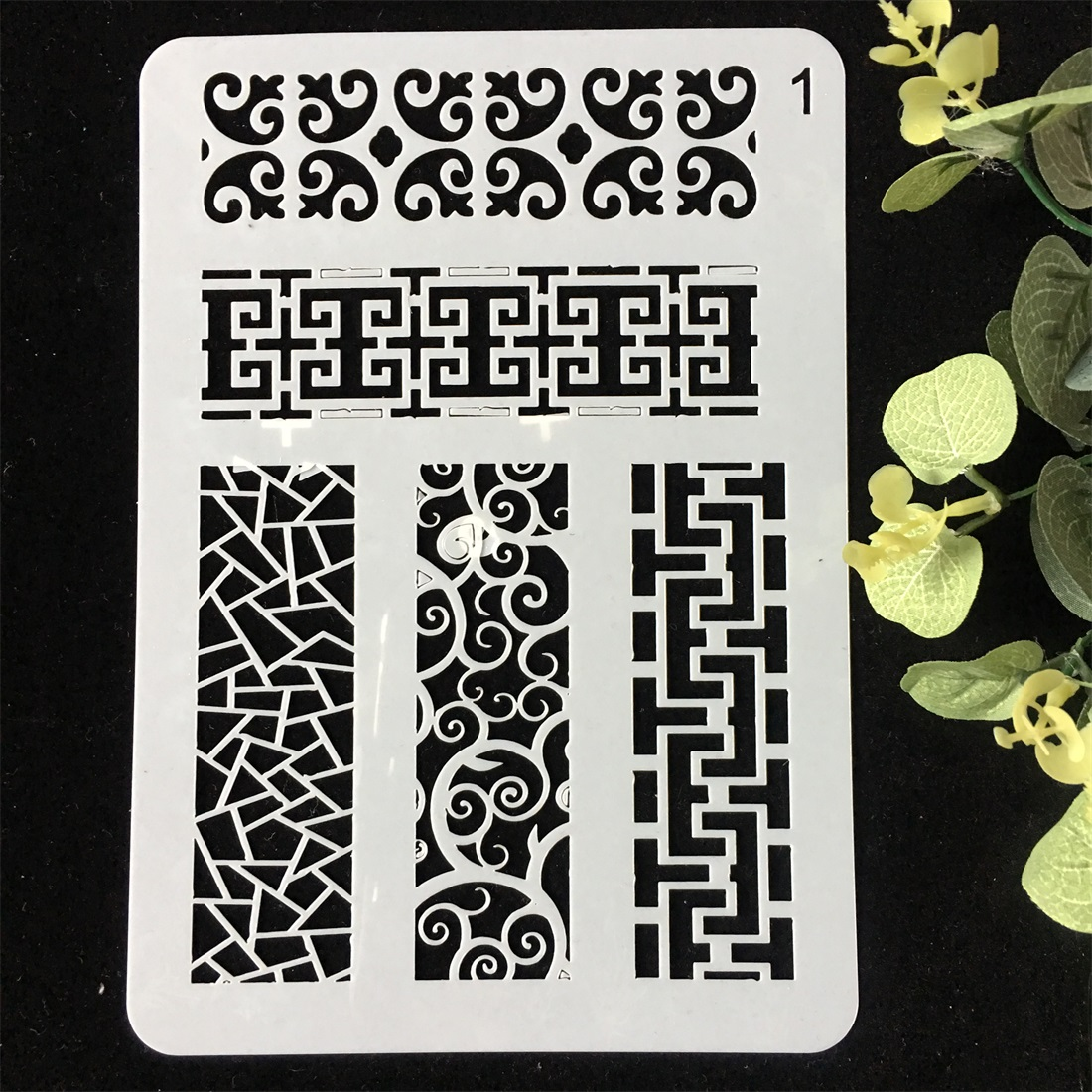 1Pcs 20x14cm Rectangle Frame DIY Layering Stencils Wall Painting Scrapbook Coloring Embossing Album Decorative Card Template