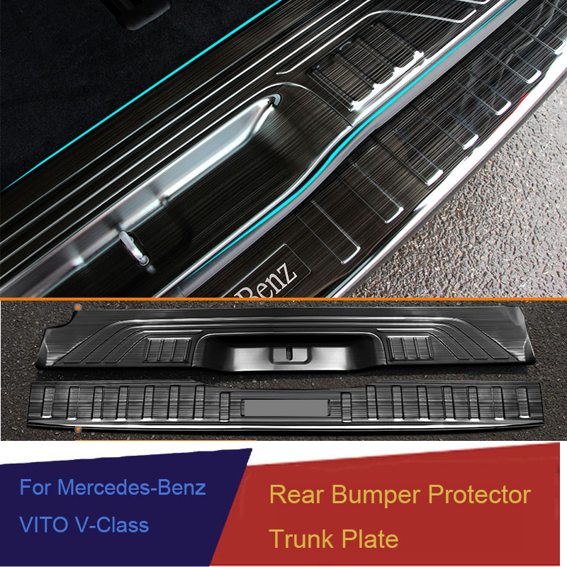 Rear Bumper Protector Threshold Plate Cover Sill Trim For Mercedes Benz Metris Valente Vito Viano V