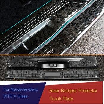 Защитная Накладка на порог заднего бампера для Mercedes Benz Metris Valente Vito Viano V-Class W447 2016 2017 2018