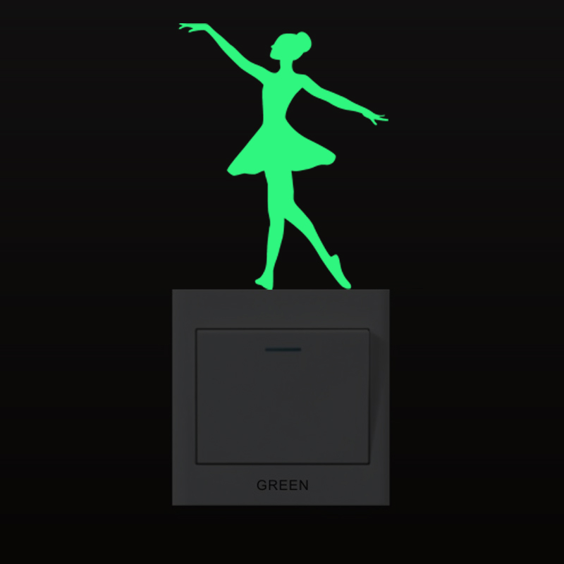 3D wall stickers for kids room Kungfu Luminous Switch Sticker glow in the dark star wall stickers bedroom home decor living room in Wall Stickers from Home Garden