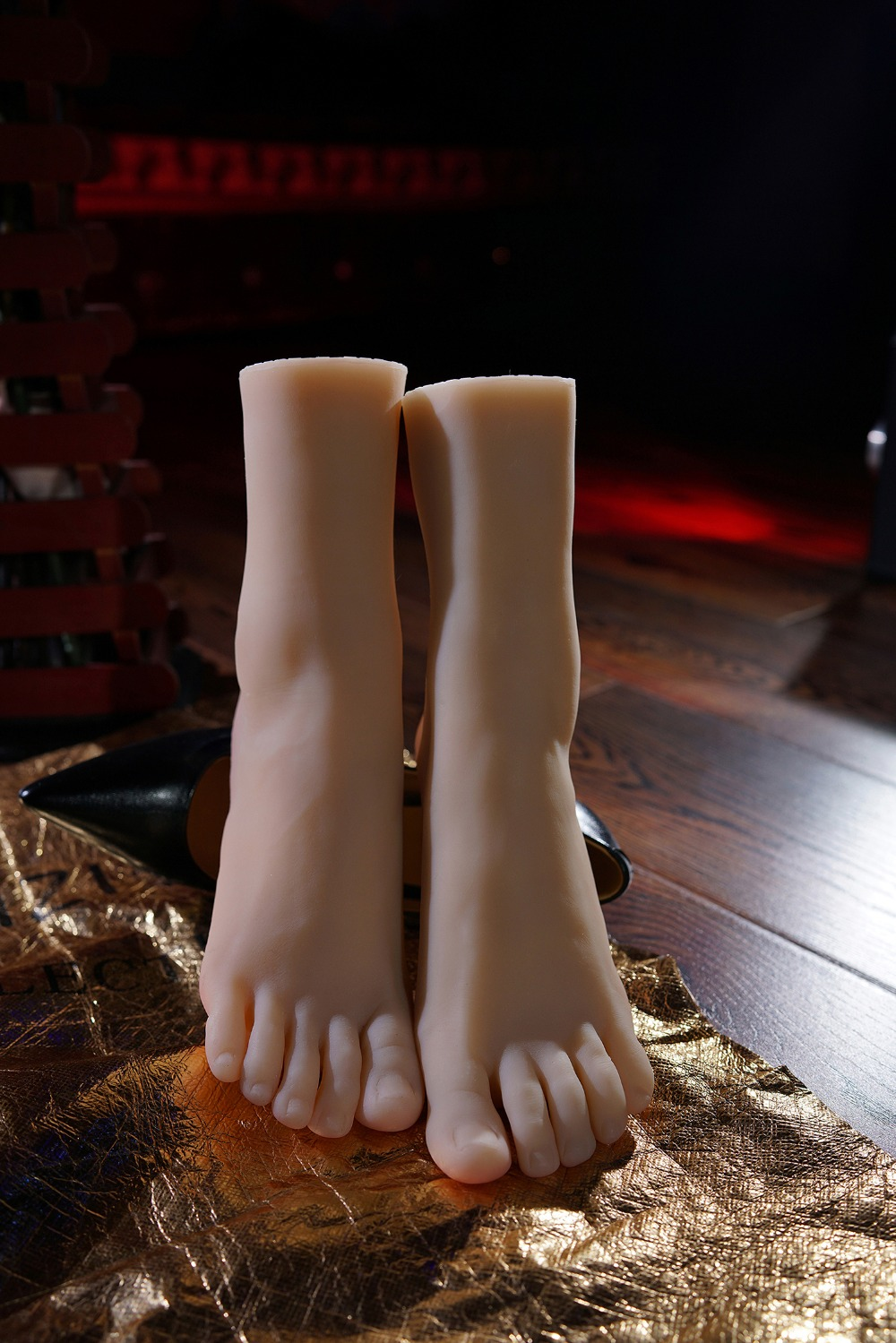 <font><b>15cm</b></font> 32# female(little girl) Silicone Fake Foot,Inner-Bone Inside,Toe Move Freely,Feet Model,Shoe Model image