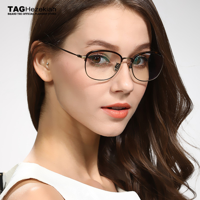 ca52fdc4dbc 2018 New glasses frame TAG Hezekiah Brand women men Imported metal trend of  young Retro eyeglasses