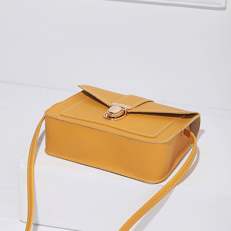 Fashion Small Crossbody Bags for Women 2019 Mini PU Leather Shoulder Messenger Bag for Girl Yellow Bolsas Ladies Phone Purse 8