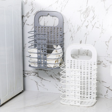 Suction Cup Hanging Hamper Dirty Clothes Storage Basket Plastic Large Laundry