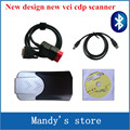 Nuevo modelo de función mvd TCS CDP pro nuevo vci vci con Bluetooth COM cdp PRO Coches Camiones herramientas de escaneo 2015. R1/2014. R2 software de DVD