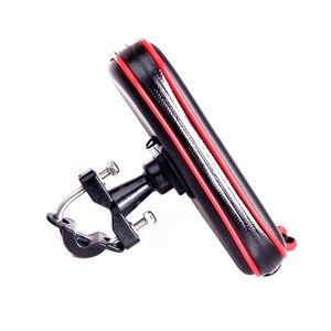 Image 4 - Newest Upgrade Waterproof Bag GPS Motorcycle Phone Holder Bag Bicycle Phone Holder Bike Handlebar Support Moto Mount Card Slots