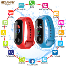 M 3 Fitness Bracelet Men Heart Rate Monitor Band Blood Pressure Bluetooth Sport Smart Bracelet For Xiao Mi Android IOS PK M2 M4 hot hr bp smart fitness bracelet watch 50letters blood pressure heart rate monitor cardiaco for ios xiaomi honor pk mi band 3 s4