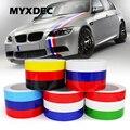 Декоративные наклейки для автомобиля и мотоцикла, 5 метров, водонепроницаемые наклейки из ПВХ для VW BMW, 3 цвета, Стайлинг автомобиля