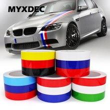 Pegatinas decorativas DIY de 5 metros para coche, pegatina de película de PVC a prueba de agua para VW, BMW, 3 colores