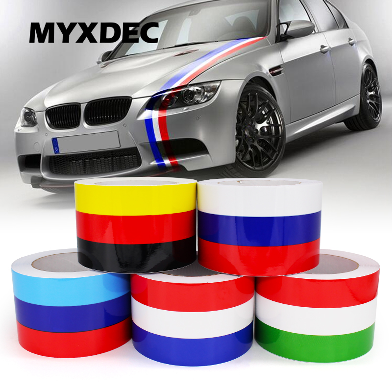 5Meters DIY Decoration Decals Exterior Auto Motorcycle Film Waterproof PVC Sticker Covers For VW BMW 3 Colors Line Car-Styling