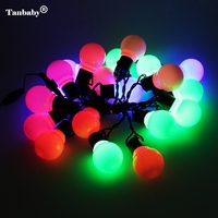 Novelty 5CM Big Ball LED String Light 10M 38 LED Christmas Light For Outdoor Patio Lawn