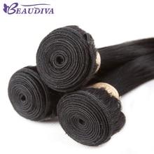 Beaudiva Peruvian Hair Bundles Straight Hair 3Pcs lot Straight Hair Bundles 100% Human Hair Weave Remy 8-26inch