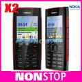 Original x2 nokia x2-00 bluetooth fm java 5mp abrió el teléfono móvil envío gratis en stock