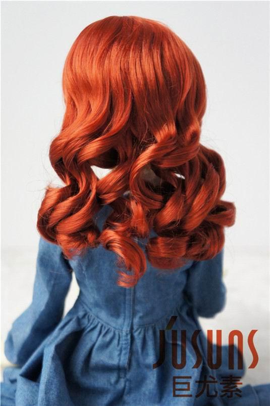 JD343 SD 21-23 см синтетический, мохеровый, для куклы парик 8-9 дюймов длинный курчавый BJD волосы легко переоснастить