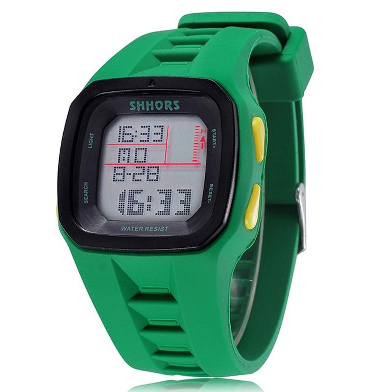 Shhors Watch Waterproof Silicone Reloj Fashion Led Sport Digital Hombre Men