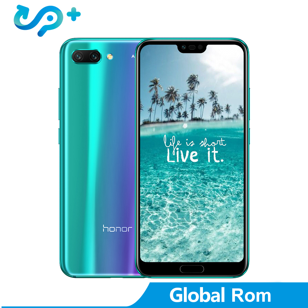 """Huawei Honor 10 Global Version 4GB 128GB SmartPhone NFC Mobile Phone Android 8.1 5.8"""" 4*Camera 24MP 3400 mAh Quick Charge"""