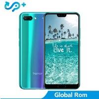 Huawei Honor 10 глобальная версия 4 Гб 128 смартфон NFC мобильного телефона Android 8,1 5,8