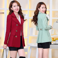 Women S Windbreaker 2017 Spring And Autumn New Korean Slim Was Thin Casual Long Sleeved Fashion