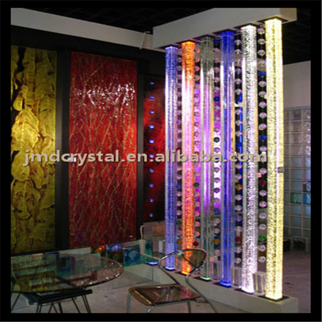 Crystal glass Room divider columns Wholesale bubble pillars design