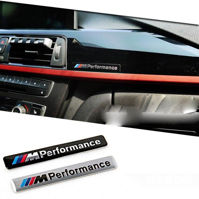 Aluminum M Power Performance Car Sticker Decal Emblem Badge For BMW M 1 <font><b>3</b></font> <font><b>4</b></font> 5 6 <font><b>7</b></font> E Z <font><b>X</b></font> M3 M5 M6 Mline Car Styling Accessories