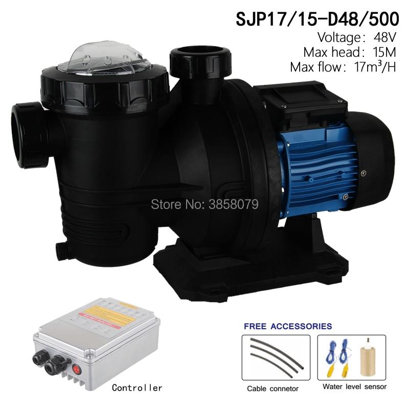 48V 500w Solar Swimming Pool Pump , solar powered pool pump, solar pool pumps,dc pool pump SJP17/15 D48/500