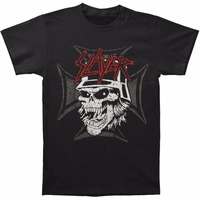 Awesome T Shirts Short Sleeve Men Slayer Men's Graphic Skull T-shirt Size S To 3XL Broadcloth Crew Neck T Shirt