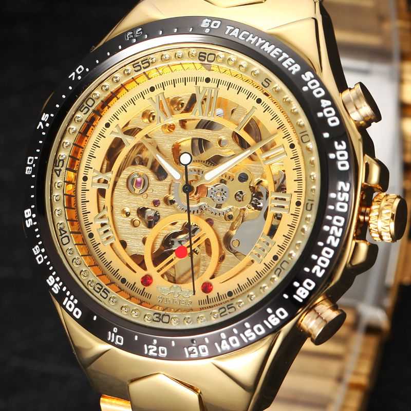 Mens Watches Top Brand Luxury font b Mechanical b font Wristwatches Automatic Self wind Skeleton Watch