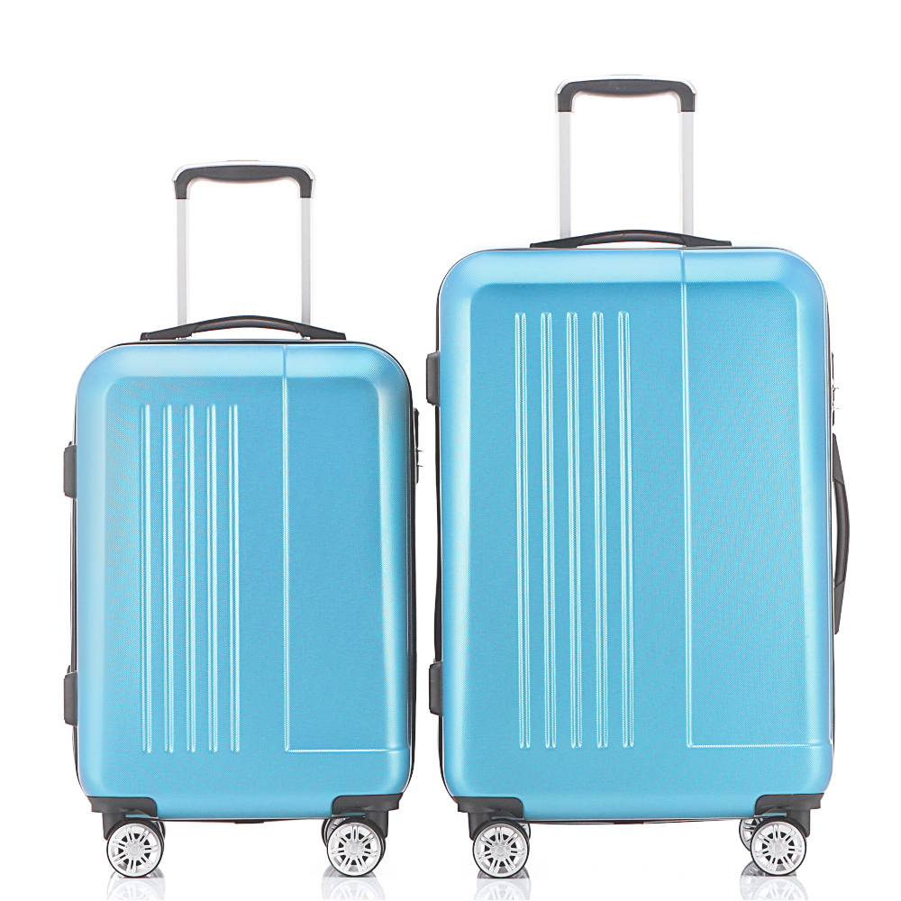 2Piece Hardside Travel Luggage Sets Suitcase 20 24 Rolling Spinner 4 Wheels 4 Colors ABS Lightweight Fochier 19inch leopard pattern hardside abs pc suitcase rolling luggage