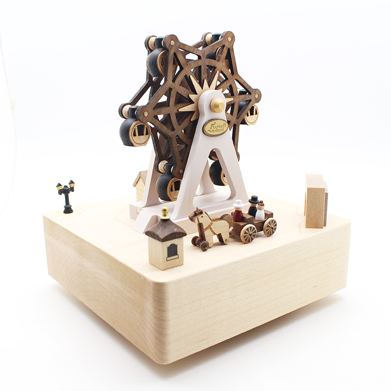 Ferris Wheel Hand Music Box Music Box Wooden Musical Box Gift Toy antique carved wood star wars game of thrones music box hand crank theme music welcome to sell friends cooperation