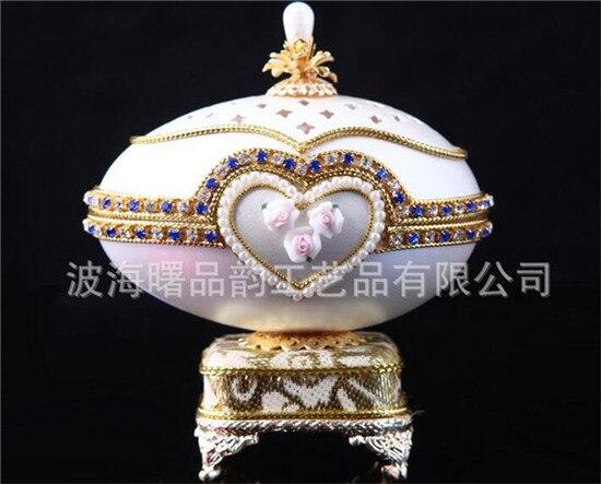 Coeur forme fleur oeuf boîte à musique pour cadeau présent princesse amour fille boîte à musique boîte à musique coquille d'oeuf conception de mariage livraison gratuite