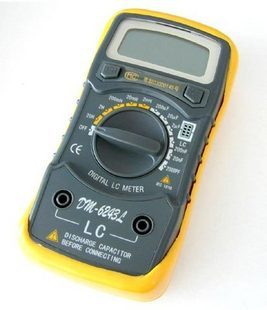 Capacitance meter testre Inductance meter Strap Blue Backlight LCR meter Electronic font b Measuring b font