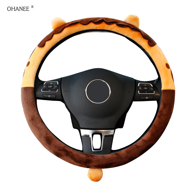 OHANEE 38cm universal cartooon car steering wheel covers case for ford focus 2 for Bmw to girls automobile accessories
