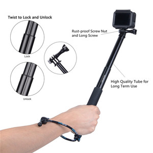 Image 2 - Selfie Stick impugnatura impermeabile monopiede allungabile manico regolabile per GoPro Hero 8 7 6 5 4 Session SJCAM AKASO Xiaomi