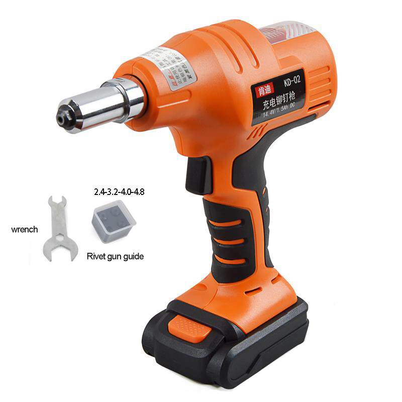 2019 NEW 14.4V Portable Cordless Electric Rivet Gun Rechargeable Riveter Battery Riveting Tool Pull Rivet Nut Tool