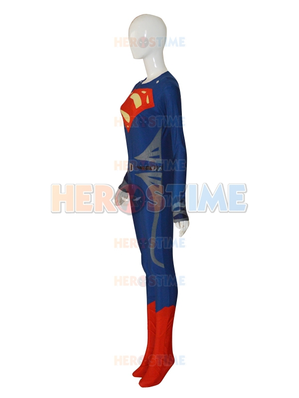 Deep Blue & Red Steel Superman Costume The New Lycra Spandex Superman - Carnavalskostuums - Foto 3
