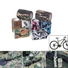 7.5cmx4.5m Army Camo Tape Hunting Shooting Military Elastic Stealth Wrap Bandage Accessories 2/3/5/8/10/11/12