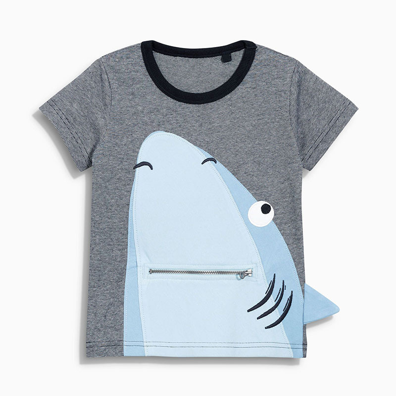 Wenig maven 1-6Year Mode Tier Shark Baby Kinder Jungen T Shirt Baumwolle Neugeborenen Jungen Mädchen Tops Tees Kleidung Hemd Cabritos ropas