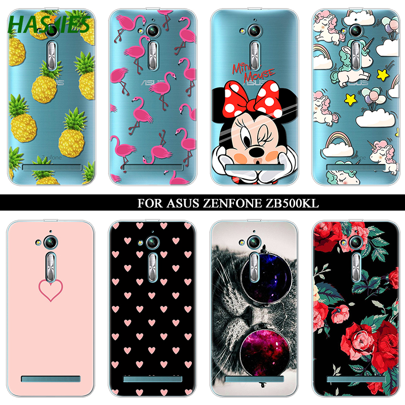 Soft Silicone TPU 5.0 for ASUS Zenfone Go ZB500KL Case Cover Painting Back Protective Funda ASUS Zenfone Go ZB500KL Case