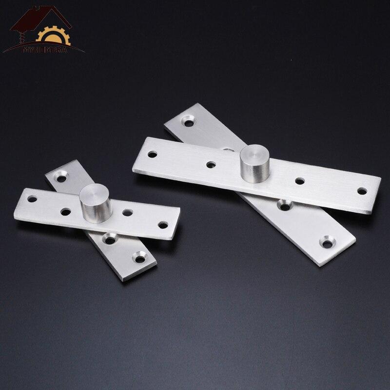 75//95//100mm Furniture Hinges Rotating Hinge 360 Degree Stainless Steel Door Pivot Up Down Shaft