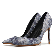 Women Sexy Pumps Shoes 6cm/8cm/10cm Pointed Toe High Heeled Party Prom Pu Leather Big Size H0014