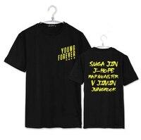 Fashion Summer Style Kpop Bts T Shirt Bangtan Boys Young Forever All Member Names Printing O