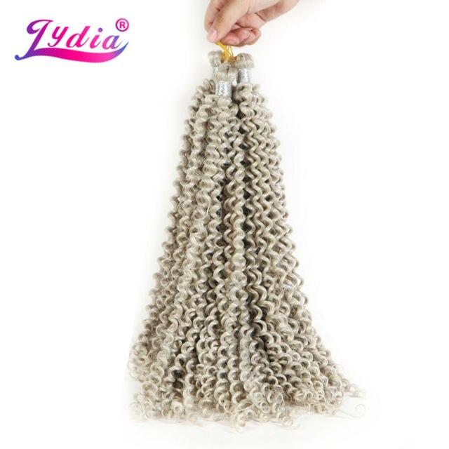 "Lydia Freetress Synthetic Silvergray 28"" 3Pieces/lot Bohemian Crochet Braid Hair Extensions Latch Hook Braiding Hair Bulk"