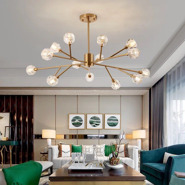 Creative Post Modern Crystal Chandelier Living Room Personality