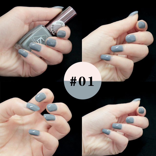 2016 New Grey Paradise Seires Nail Polish 24 Colors16 ml Matte Nail Varnish Retro Special Liquid Nail Pigment Polish