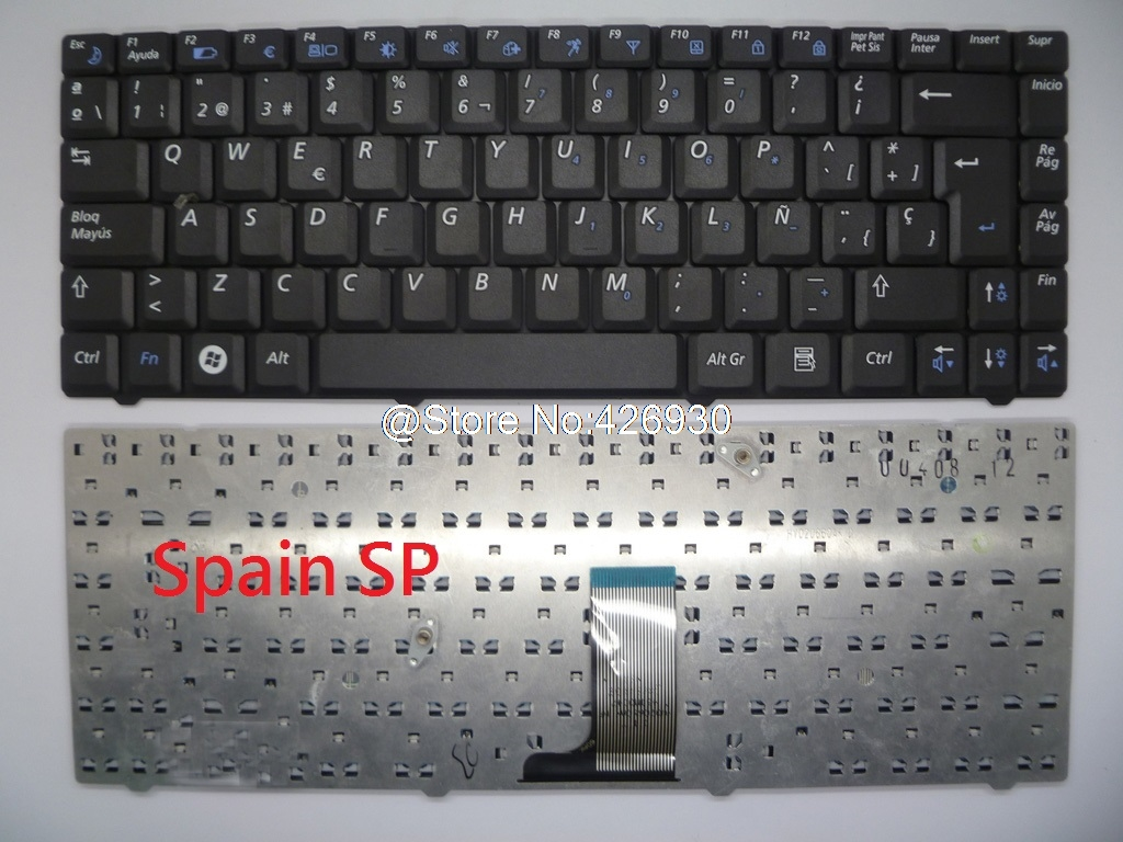 Laptop Keyboard For Samsung R519 R550 R450 English US Spain SP Russia RU Italy IT BA59-02581A V020660AS1 BA59-02586D BA59-02581D