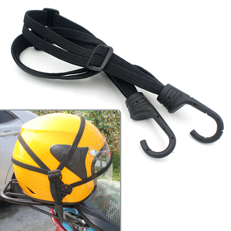 Motorcycle Helmet Strap with Hook Luggage Rope Net Bungee Cord Bandage Strapping Tape Elastic Strap Net Moto Accessories